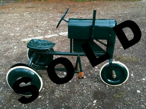Tractor Pedal Car Parts : Vintage triang pedal car for sale toy tractor